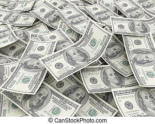 pengar, lagförslaget, hög, dollar, $100