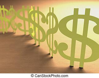 pengar, papper, snitt, underteckna