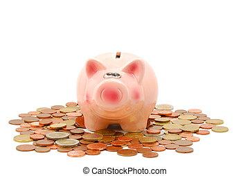 pengar, piggy packa ihop