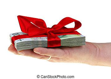 pengar, polska, gåva