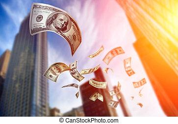 pengar, stjärnfall, lagförslaget, $100