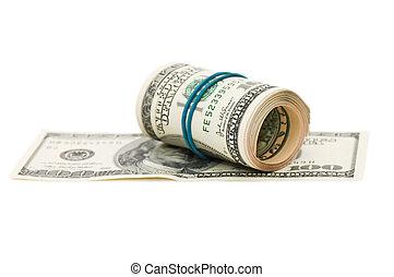 pengar vältra, bakgrund, isolerat, bog, vit
