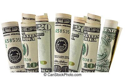 pengar, växa, din
