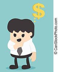 penge, forarbejde, planlægger, firma