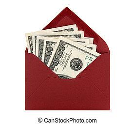 penge konvolut, rød