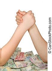 penge, krige