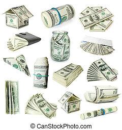 penge, på hvide