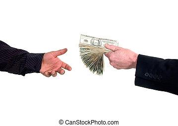 penge, udlånt, indkassere