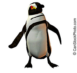 Penguin dancer - A penguin dancing and waving his flippers...