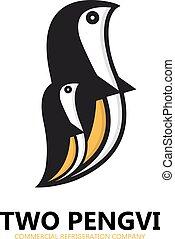 Penguin design logo