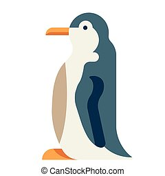 Penguin flat illustration