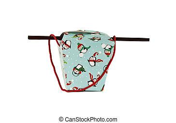 penguin holiday themed holiday box