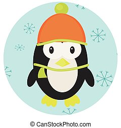 Penguin icon app mobile