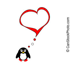 Penguin on love