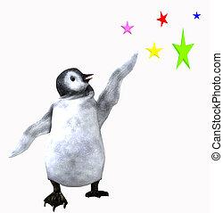 Penguin Reaching For the Stars