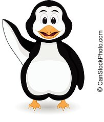Penguin say hallo