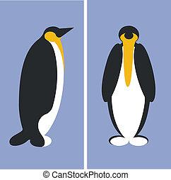 penguin, silhouette, 01