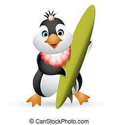 Penguin Surfer