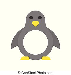 Penguin vector, Christmas style flat style icon