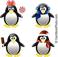 Penguin Vector Illustration Set