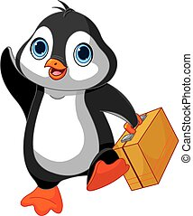 Penguin with a Suitcase