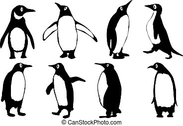 Penguins - A collection of penguin cartoon characters...