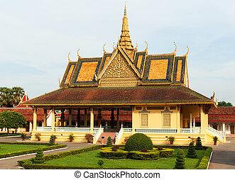 penh, pnom, grandiose, cambodia., palais