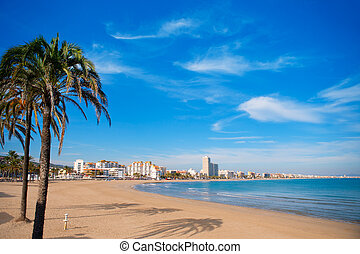 Peniscola beach in Castellon spain