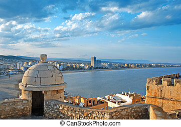 Peniscola, Valencia, Spain - A view of North beach of...
