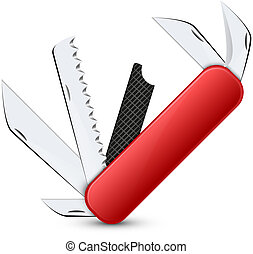 penknife abstract vector illustration background with shadow...