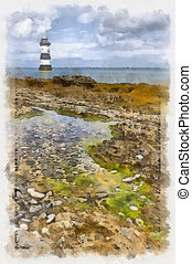 Penmon Point Lighthouse Anglesey, North Wales
