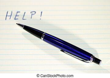 penna, aiuto