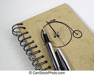 penna, anteckningsbok, 4