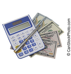 penna, blocco note, calculator.