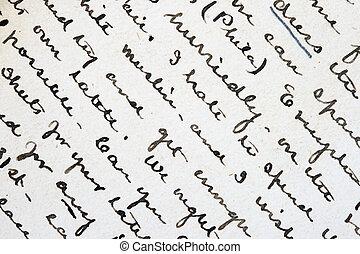 penna ed inchiostro, scrittura