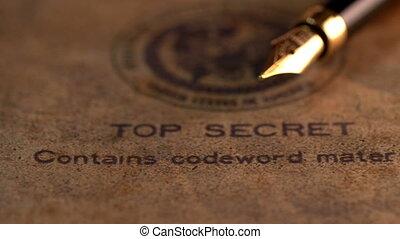 penna fontana, cima, segreto, documento