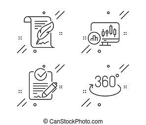 penna, grafico, pieno, rfp, icone, candeliere, vettore, rotazione, set., segno.