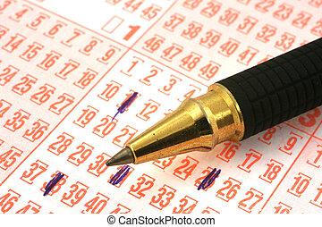 penna, lotteri lottsedel
