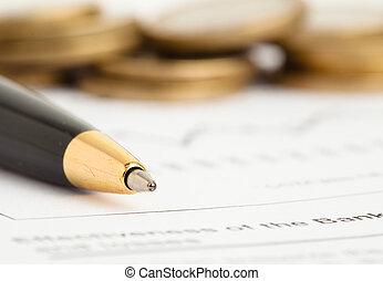 penna, monete