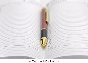 penna, pianificatore, tempo