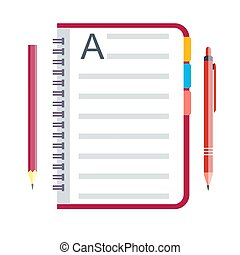 penna, quaderno