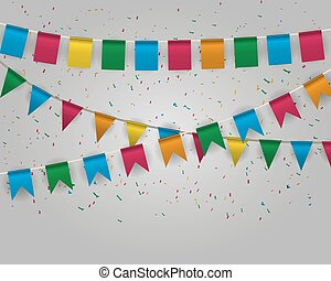 Pennant bunting collection - Color pennant bunting ...