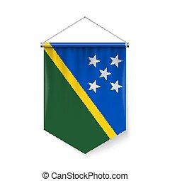 Pennant Flag Icon of Solomon Islands - Vertical Pennant Flag...