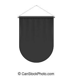 Pennant Template - Vertical Black Pennant Flag Award Banner...