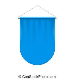 Pennant Template - Vertical Blue Pennant Flag Award Banner...