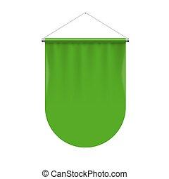Pennant Template - Vertical Green Pennant Flag Award Banner...