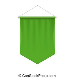 Pennant Template - Vertical Green Pennant Hanging on a...