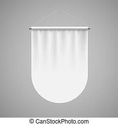 Pennant Template - Vertical White Pennant Flag Award Banner...
