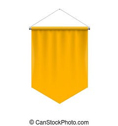 Pennant Template - Vertical Yellow Pennant Hanging on a...