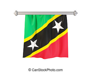 Pennant with flag of saint kitts and nevis